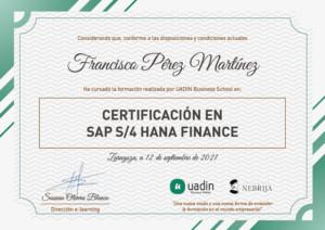 Certificación en SAP S/4 HANA Finance