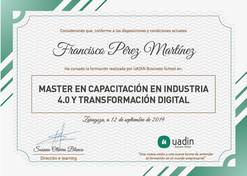 Master en Capacitación en Industria 4.0 y Transformación Digital