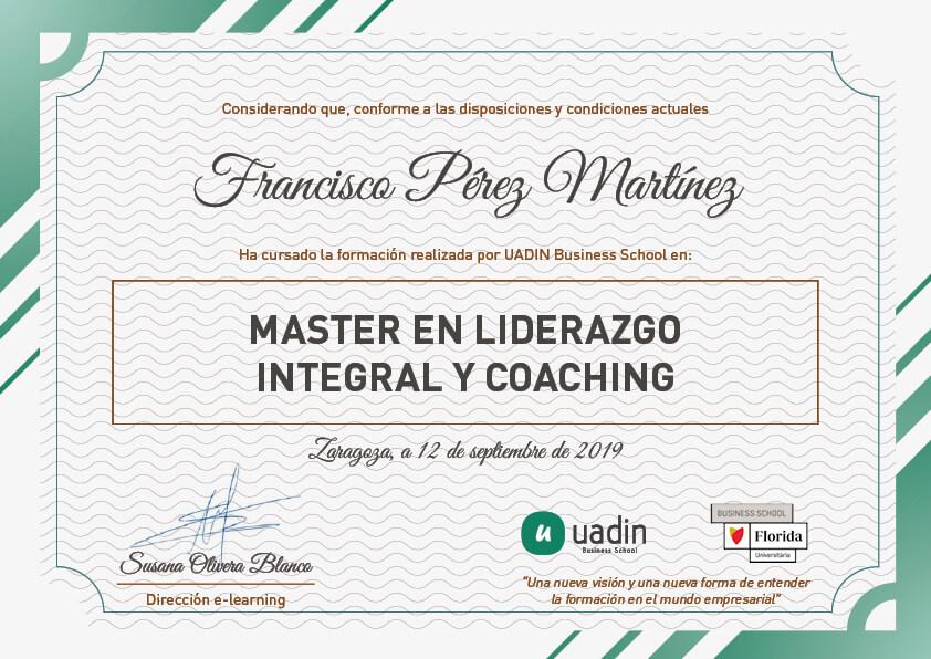 Master en Liderazgo Integral y Coaching