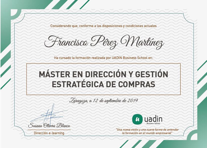 Master en Dirección y Gestión Estratégica de Compras