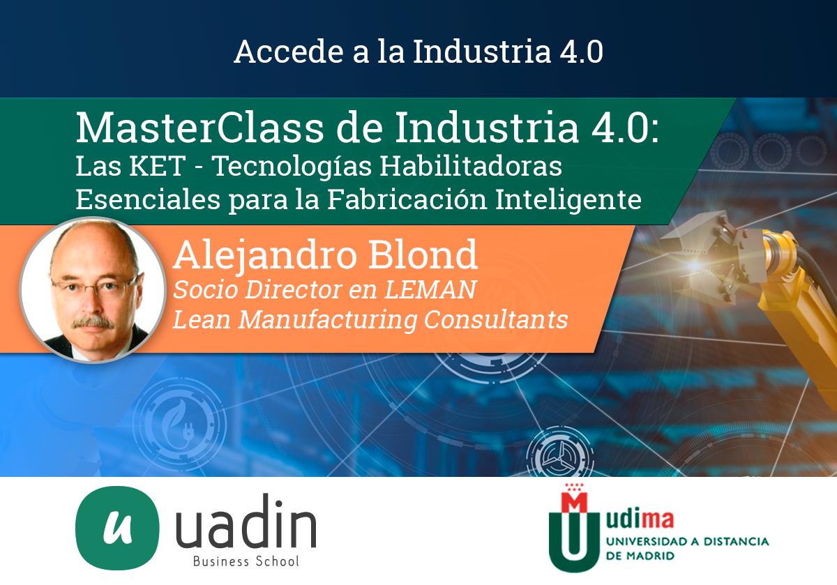MasterClass de Industria 4.0: KETs - Tecnologías habilitadoras esenciales para la fabricación inteligente