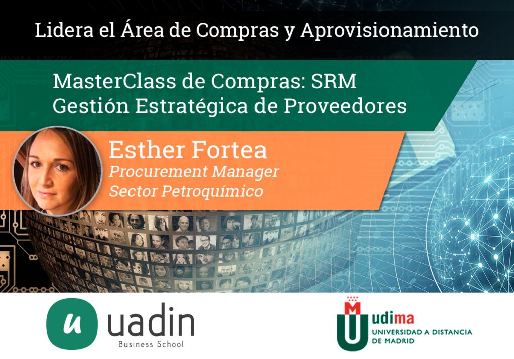 Esther Fortea - Gestión estratégica de proveedores SRM | UADIN Business School