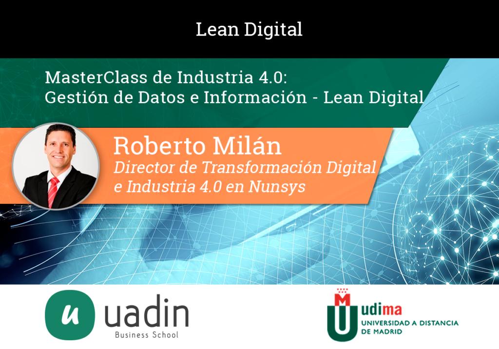 Roberto Milán - Gestión de Datos e Información Lean Digital | UADIN Business School